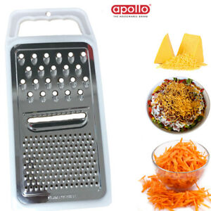 Grater Cheese Flat Stainless Shredder Vegeteble Slicer Hand Held Zester Kitchen