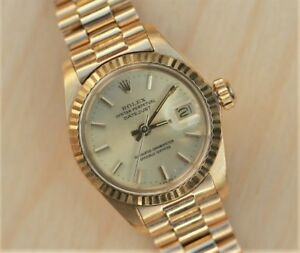 Ladies Rolex Datejust 6917 From 1978 A Gem in Solid 18k Yellow Gold