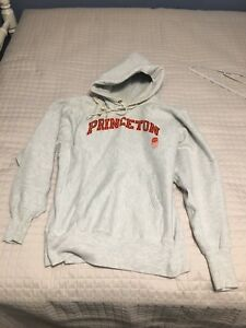 vtg champion reverse weave princeton university basketball hoodie sweatshirt