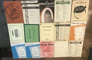 Two Piano Sheet Music Selected Works For Piano Two Pianos Four Hands Lot Of 16 $30.00