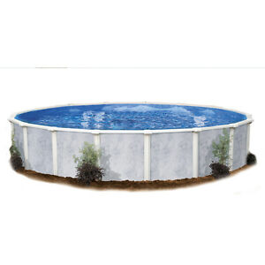 Silver Tone Design Sierra Pines 30-ft x 15-ft x 52-in Oval Above-Ground Pool
