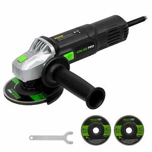Powerful 120V Right Angle Grinder 6Amp 4 1 2quot; with 2 Grinding amp; Cutting Wheels $42.99