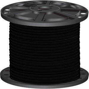 Black Pre-Cut Length 2500 ft Stranded CU SIMpull THHN Building Electrical Wire