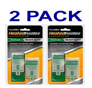 Thermacell Battery Pack for PROFLEX Heavy Duty Heated Insoles 2 Pack