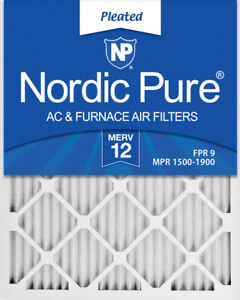 Nordic Pure 8x20x1 Exact MERV 12 Pleated AC Furnace Air Filters 4 Pack