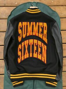 11 OVO x Roots Summer Sixteen Leather Varsity Jacket 2016 Exclusive Crew Only
