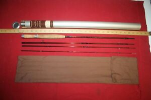 RUSS PEAK ZENITH #15495 8' 2 38 oz 4 PIECE FLY ROD TUBE AND SOCK VERY NICE!!!!