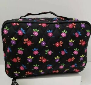 Vera Bradley Large Blush and Brush Travel Cosmetics Case Flowerettes New W Tags