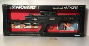Vintage Star Wars 3 Position Laser Rifle Early Releaee Kenner Super Rare