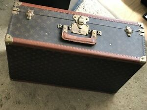 50s Vintage Louis Vuitton Trunk Luggage Le Fly-el MONOGRAM Suitcase Bag RARE