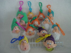 Disney Snow White Dwarfs Clips Lot of 13