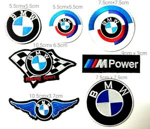 Set 7pcs BMW Patches Logo Embroidery Iron on Sewing on Clothes $12.00