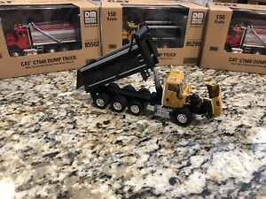 150 Caterpillar Cat Diecast CT660 Dump Truck in Yellow Construction Vehicle Toy