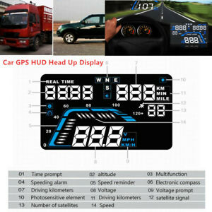 Car Truck SUV GPS HUD Head Up Display Overspeed Warning System Voltage Alarm Kit