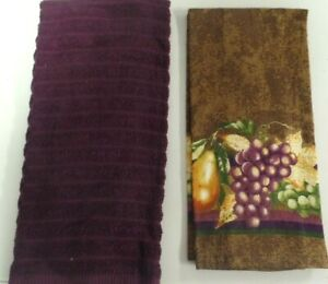 TOWELS..KITCHEN / HAND--GRAPES OR PURPLE