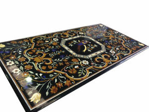 Royal Grand Pietra Dura Dining Table Top Marquetry Marble Inlay Dining Table Top