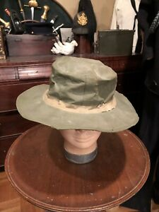 U.S Marine Corp. Tropical Hat Dated 1943 And Numberd . Autentic WWll.