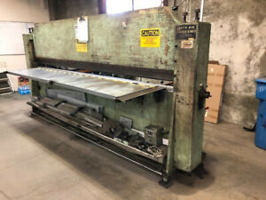 Roto-Die Model 10 Hydraulic Press Brake  10' x 16 GA