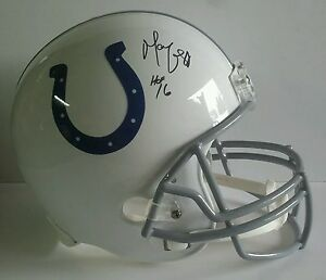 Marvin Harrison Autographed Signed Full Size Helmet Indianapolis Colts JSA