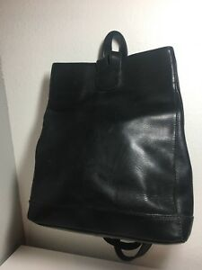 Ellington Black Leather Convertible Backpack Purse EUC