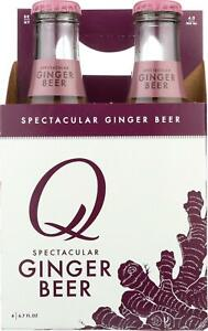 Q DRINKS Ginger Beer Pack of 24 6.7 FZ