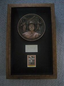 CY YOUNG autograph on plaque with COA & Royal Doulton Plate. Signed Auto. MLB