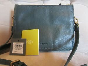 NWT CLEARANCE Fossil Women's Campbell Alpine Green Crossbody HandBag Purse $138