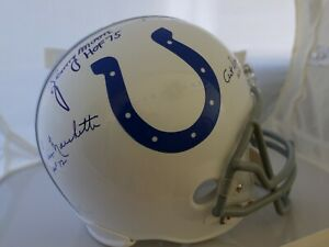 Baltimore Colts Replica Full Size Signed By 4 HOF Donovan Berry Moore Marchetti