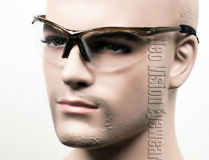 ERB Pinpoint Bifocal Safety Glasses W Cord Clear Smoke Magnifier Reader Reading $8.54