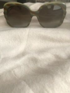 AUTH GUCCI Designer Sunglasses GG 3189S Retro 60s Style- GreenBrown Horn