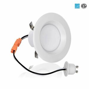 3-Inch LED Downlight Retrofit, GU10 Base, 8-Watt (50W) Soft White 3000K