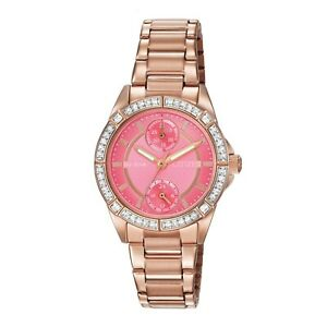 Citizen Eco Drive Women's POV Crystal Accents Rose Gold Tone Watch FD3003 58X