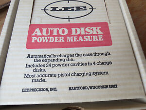 LEE PRECISION AUTO POWDER MEASURE 4 CHARGE DISK AMMO RE-LOADING PRESS NOS in BOX