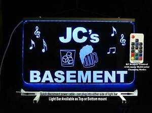 Personalized Man cave Basement sign Custom Lighted sign Home Bar decor Neon