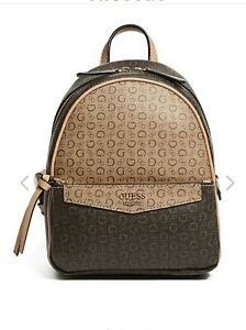 Guess backpack women Authentic brown leather