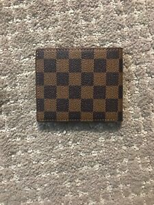 Luxury Mens Louis Vuitton Wallet 100% Leather Pre Owned