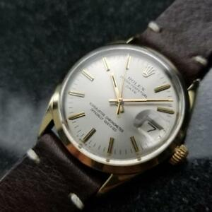 ROLEX Men's Oyster Perpetual Date 1550 Gold-Capped Automatic c.1973 Swiss LV713
