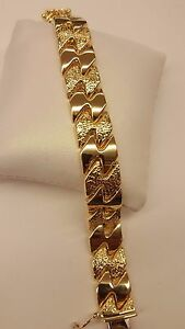 GORGEOUS DESIGN SOLID 18K YELLOW  GOLD BREATHTAKING BRACELET TRULY MAGNIFICENT