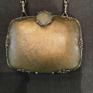 Maya Designer Gold Clutch Bag With Dust Bag Free Shipping