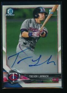 TREVOR LARNACH AUTO 2018 1st Bowman Draft Chrome Autograph Twins Rookie Card RC