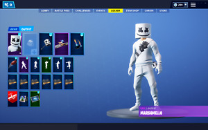 Fortnite account 12 skins marshmallow incl stw inside battlepass s7 email access