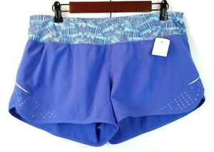 Champion Women's Size Large Athletic Inner Brief Running Blue Shorts Stretch New