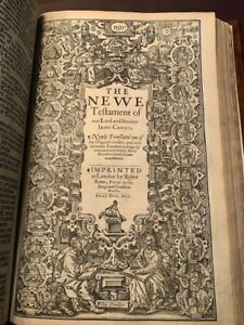 1611 KING JAMES FOLIO BIBLE 1ST EDITION