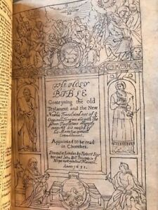 16311630 King James Bible Extremely RARE F. Fry Provenance. 2 Copies in world!