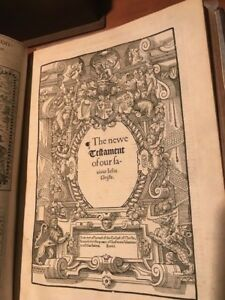 1568 Bishops Bible RARE FIRST FOLIO EDITION CONSIDERED THE MOST SUMPTUOUS