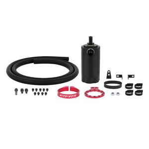 Mishimoto Red High Performance Baffled Oil Catch Can Universal Separator Tank