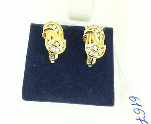 Diamond Earrings 0.96 CT Yellow Gold18k Christmas Gift Bridal Birthday Mother