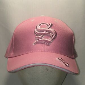 Letter S Pink White Baseball Cap Womens Hats Cool Gifts Ladies Hat T119 F9066