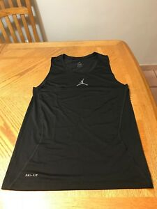 Nike Micheal Air Jordan Tank top Black Dri Fit Shirt MJ 23 T-shirt 9XL