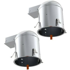 SUNCO 2 PACK 6-INCH REMODEL CAN AIR TIGHT IC + UL HOUSING RECESSED LED LIGHTING